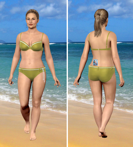 My Virtual Model at My Current Weight