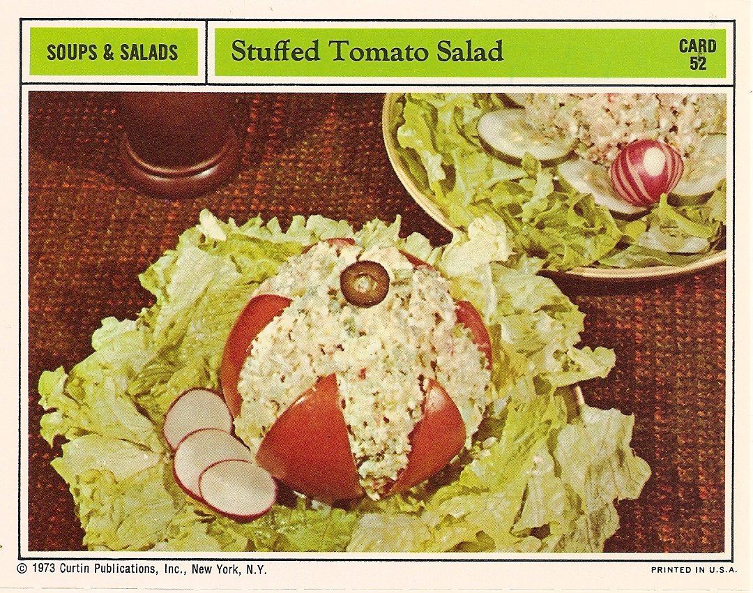 Vintage recipe card stuffed tomato salad a surly girls guide to life ingredients forumfinder Gallery